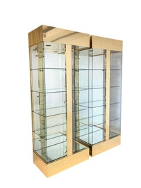 Image of Brass China and Display Cabinets