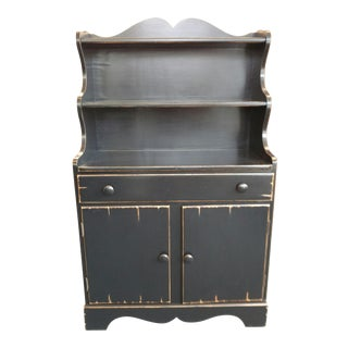 Willett Hand Painted Black Country Hutch
