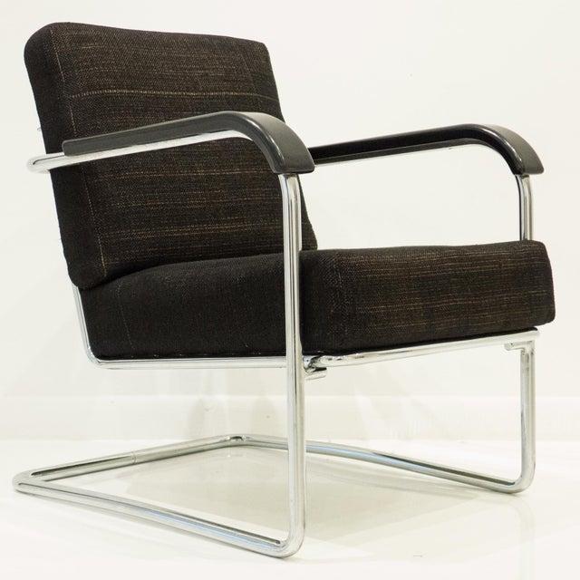 Werner Max Moser Tubular Steel Armchair for Embru Werke - Image 2 of 11