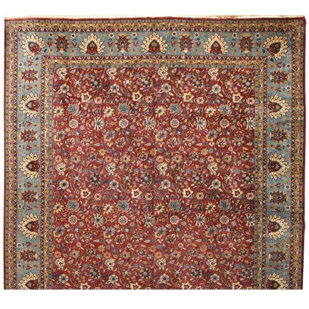 Antique Oversize Persian Kashan Carpet - Image 1 of 1