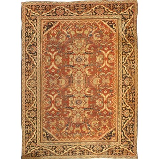 Pasargad Antique Persian Mahal Lamb's Wool Rug - 9' X 12' For Sale