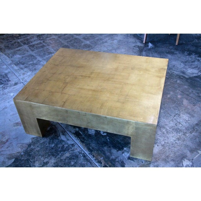 Mid 20th Century Italian Gold Leaf Coffee Table For Sale - Image 5 of 7