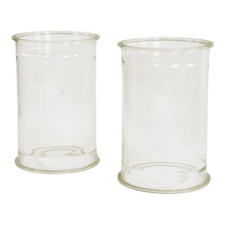 Early 20th Century Glass Cylinders or Plinths For Sale