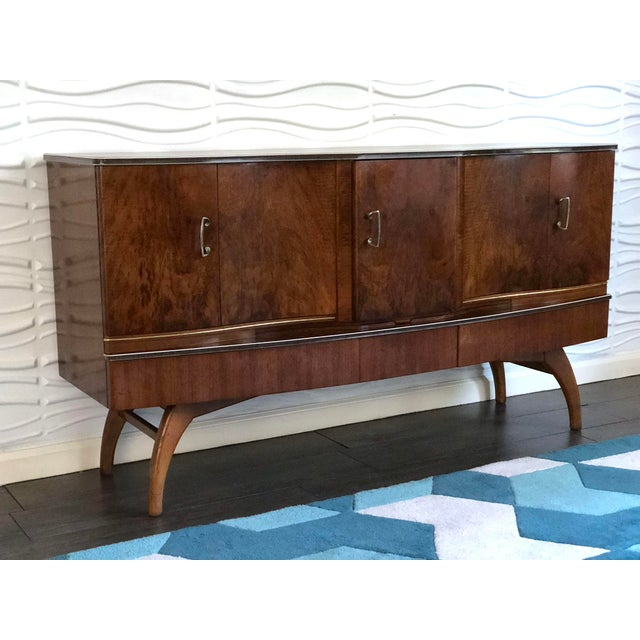 1950s Mid-Century Modern Cocktail Bar Cabinet and Credenza For Sale - Image 10 of 10