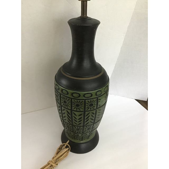 Mid 20th Century 20th Century Pottery Geometric Table Lamp For Sale - Image 5 of 10