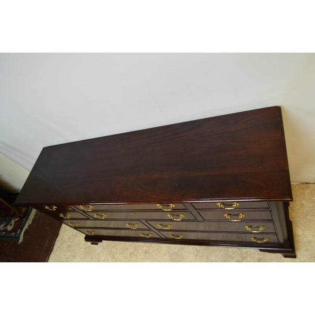 Early 21st Century Contemporary Stickley Solid Mahogany Chippendale Style Dresser For Sale - Image 5 of 13
