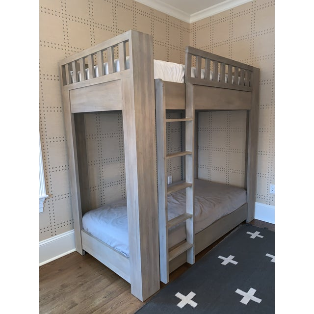 Beautiful twin platform bunk bed in mint condition.
