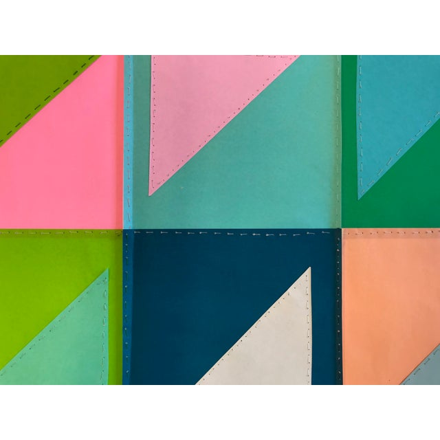 Natasha Mistry Contemporary Geometric Patchwork Collage For Sale - Image 4 of 13
