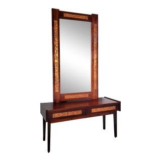 Mid-Century Danish Modern Pedersen & Hansen Console Mirror Set For Sale