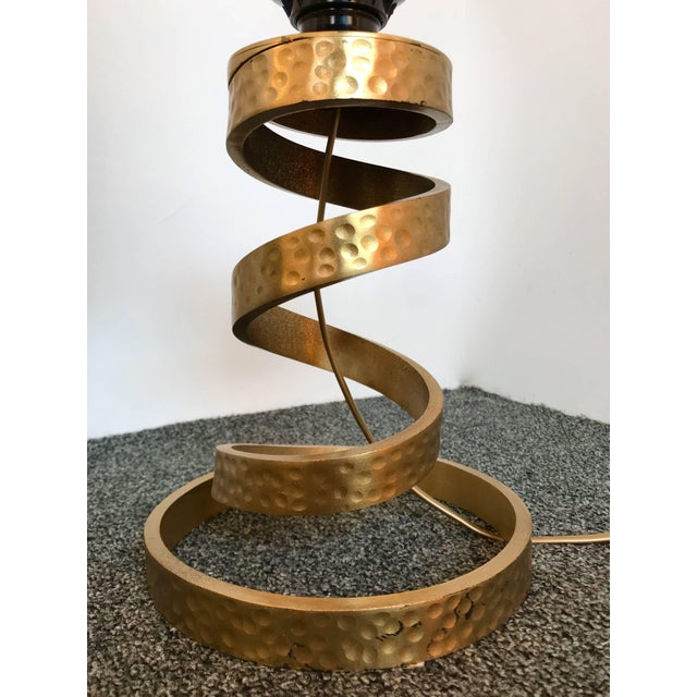 Luciano Frigerio Pair of Brass Lamps by Luciano Frigerio, Italy, 1970s For Sale - Image 4 of 9