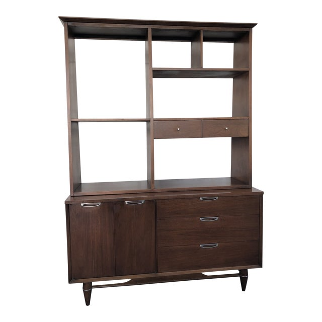 1960s Mid Century Modern Broyhill Premier Accent Line Hutch For Sale