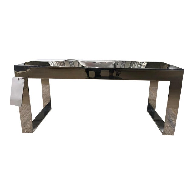 Scalamandre Contemporary Glass Top Cocktail Table For Sale
