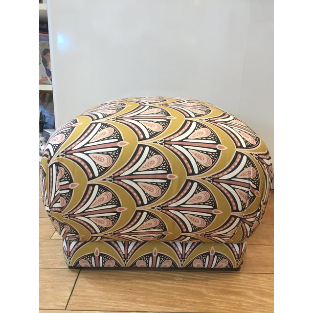 2010s Fabric Pouf Ottoman For Sale - Image 5 of 5