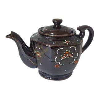 Vintage 1960's Moriage Teapot For Sale