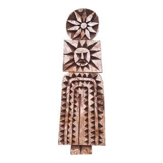 Vintage Carved Folk Art Figure Tarahumara Tribal Figure For Sale