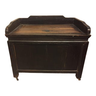 1990s Rustic Chinese Trunk on Wheels For Sale