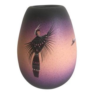 Vintage Native American Cedar Mesa Ceramic Vase For Sale