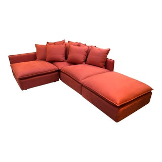 Custom Design Oswald 4pc Modular Sectional For Sale