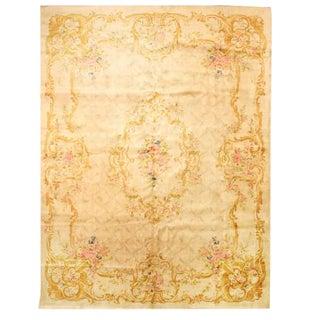 Antique European Savonnerie Carpet For Sale