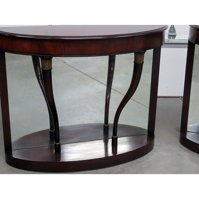 Hollywood Regency Regency Style Mirrored Back Pier Tables - a Pair For Sale - Image 3 of 8