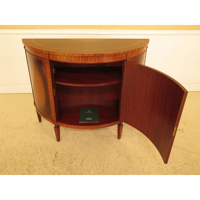1990s Baker Historic Charleston 1/2 Round Mahogany Commode Server For Sale - Image 9 of 13