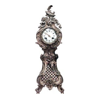 French Louis XV Mini Grandfather Clock For Sale