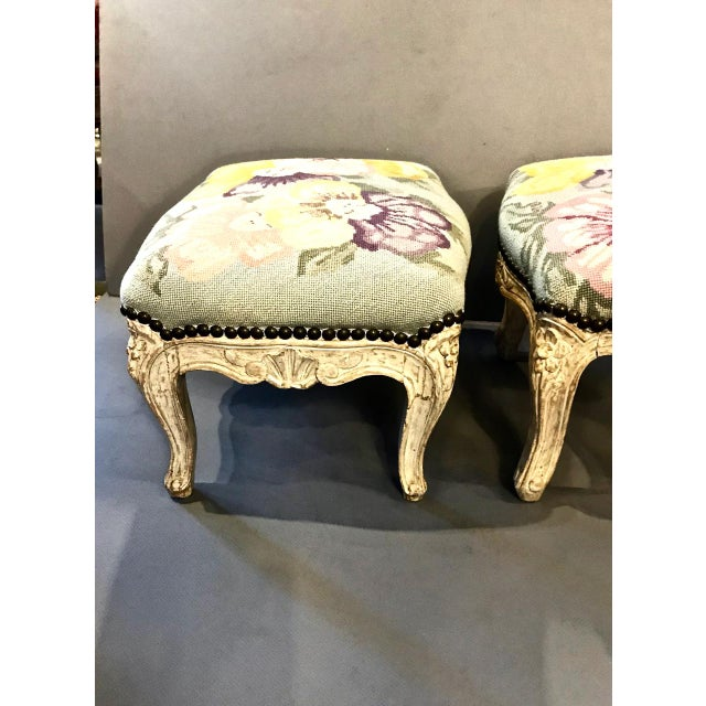 Sister Parish 18th Century French Footstools - a Pair For Sale - Image 4 of 10