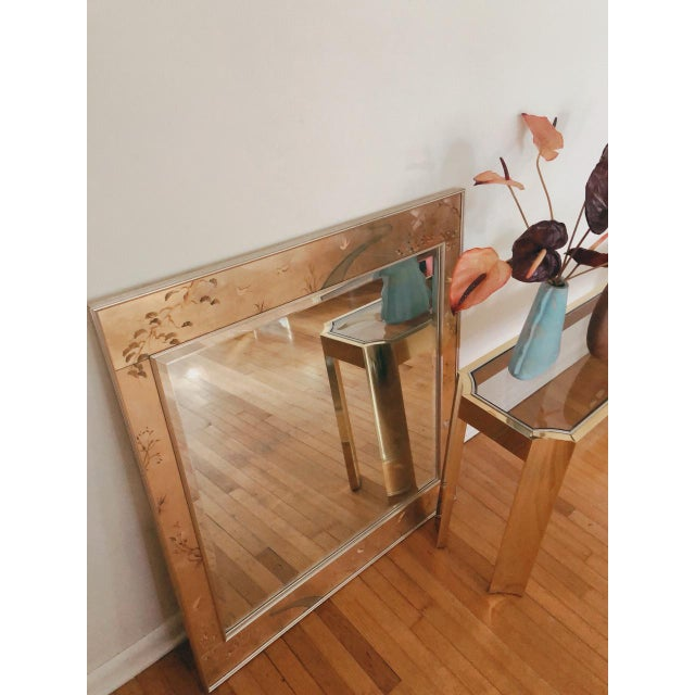 1970's Baughman Style Brass and Smoked Glass Console Table For Sale - Image 10 of 10