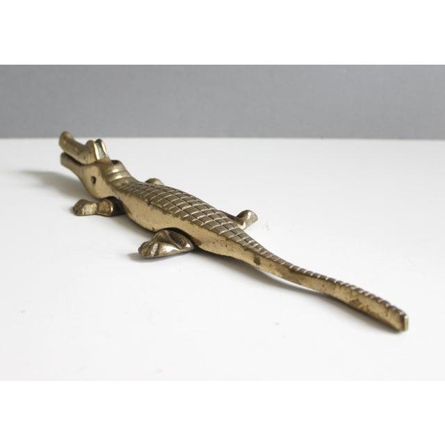Vintage Brass Alligator or Crocodile Nutcracker For Sale - Image 5 of 6