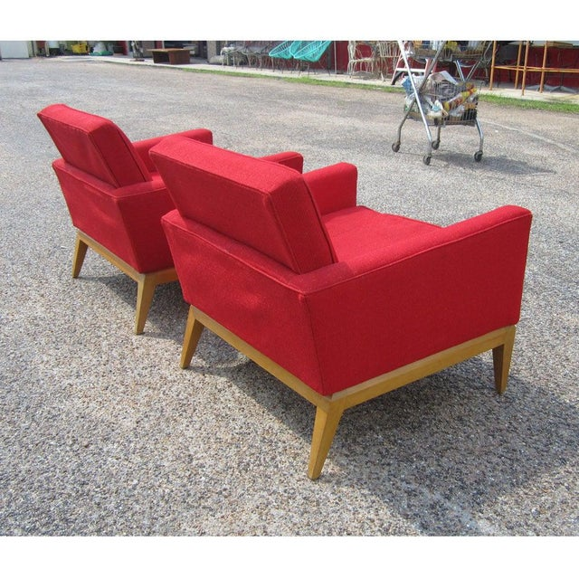 1950s Pair Vintage Mid-Century Heywood Wakefield M1161g Lounge Chairs For Sale - Image 5 of 6