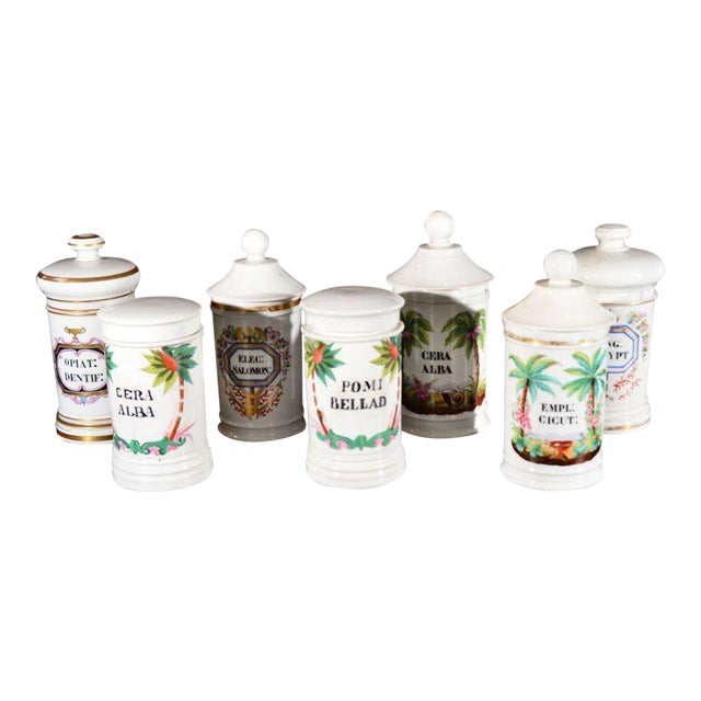 Porcelain Apothecary Jars For Sale