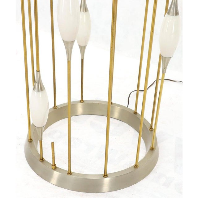 Large Waterfall Brass Floor Lamp Light Fixture For Sale - Image 10 of 12
