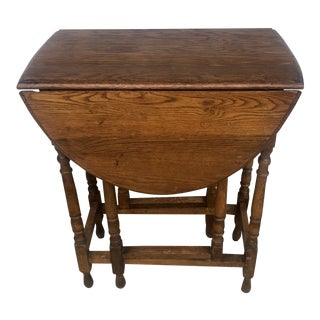 Antique Oak Gate Leg Table For Sale
