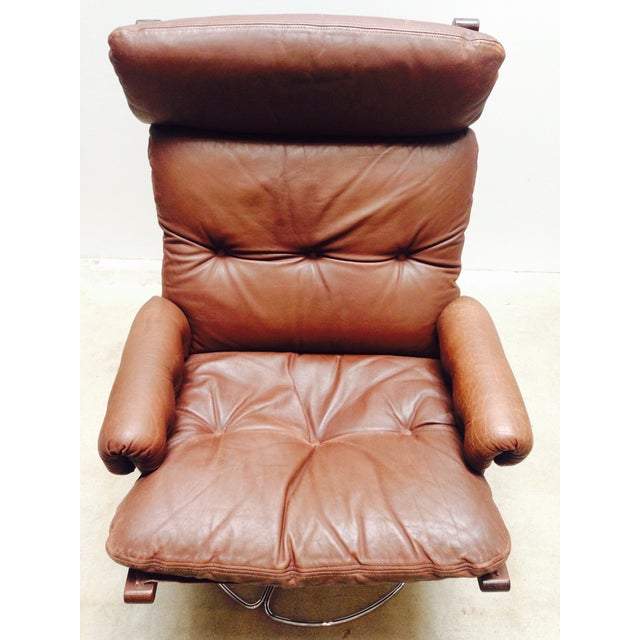 Danish Modern Bruno Mathsson for Dux Swivel Base Lounge Chair For Sale - Image 3 of 10