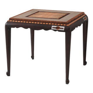 Art Deco Faux Shagreen and Rosewood Games Table For Sale