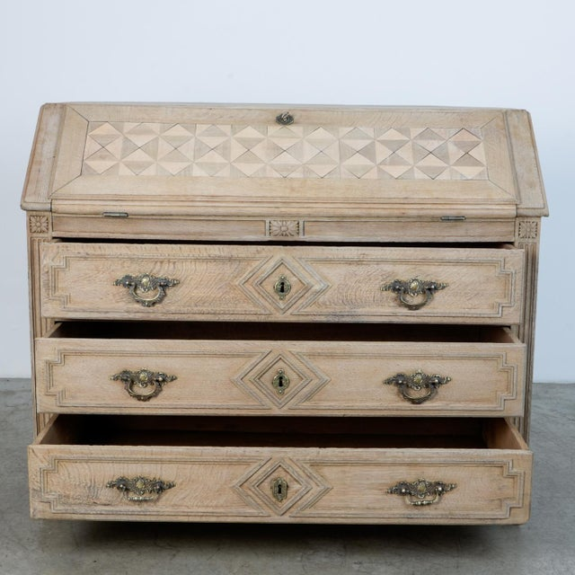 French Provincial 1860s French Secretary Cabinet For Sale - Image 3 of 10