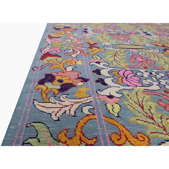 1990s Vintage Handwoven Area Rug- 6′8″ × 9′7″ For Sale - Image 10 of 11