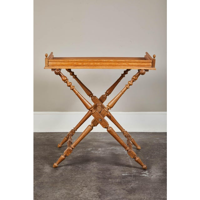 19th Century Oak Butler's Tray Table For Sale - Image 4 of 9