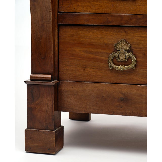 French Restauration Period Walnut Chest of Drawers For Sale - Image 9 of 10