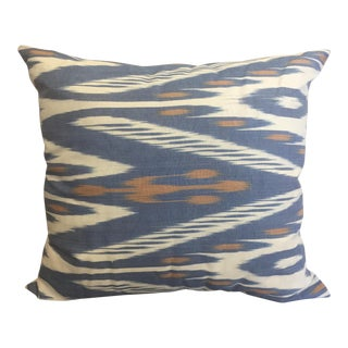Blue Ikat Accent Pillow - A Pair For Sale