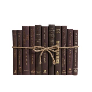 Modern Coffee ColorPak : Decorative Books in Shades of Dark Brown For Sale