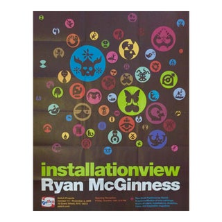Vintage Ryan McGinness Poster For Sale