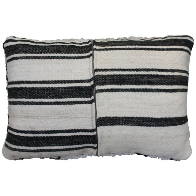 Boho Chic Diamonds & X-Pattern Moroccan Pillow For Sale - Image 3 of 4