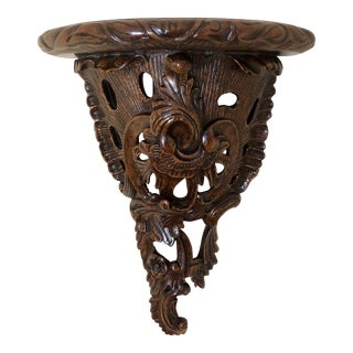 Maitland Smith Carved Wood Bracket For Sale