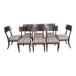 Regency Mahogany Klismos Dining Chairs - Set of 8