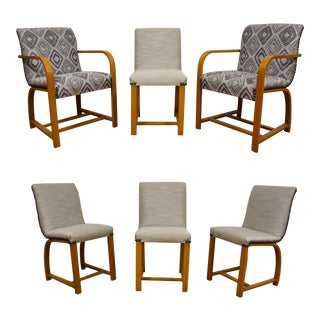 Gilbert Rohde Art Deco Modern Dining Chairs - 6 For Sale