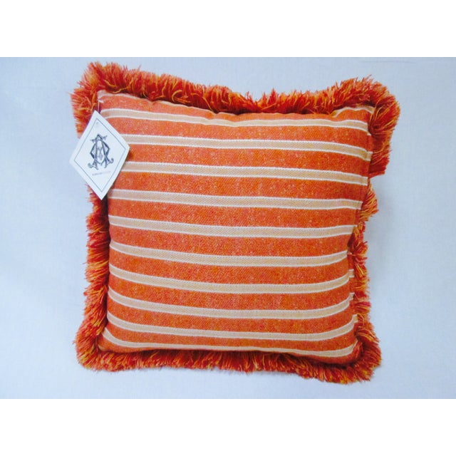 Moroccan Bohemian Orange Pillows & Placemats - Set of 9 For Sale - Image 10 of 11
