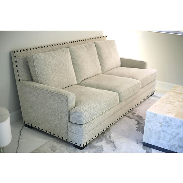 Brass Bernhardt Cantor Sofa For Sale - Image 7 of 7