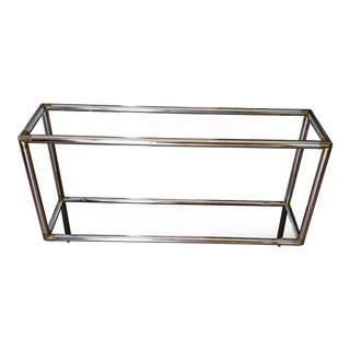 1970s Contemporary Brass and Chrome Tubular Console** For Sale