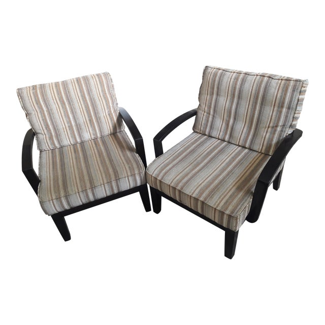 Mid Century Playboy Style Chairs - Pair - Image 1 of 6